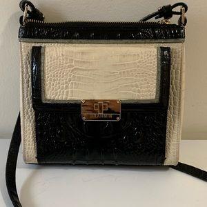 Brahmin authentic black and white crossbody purse
